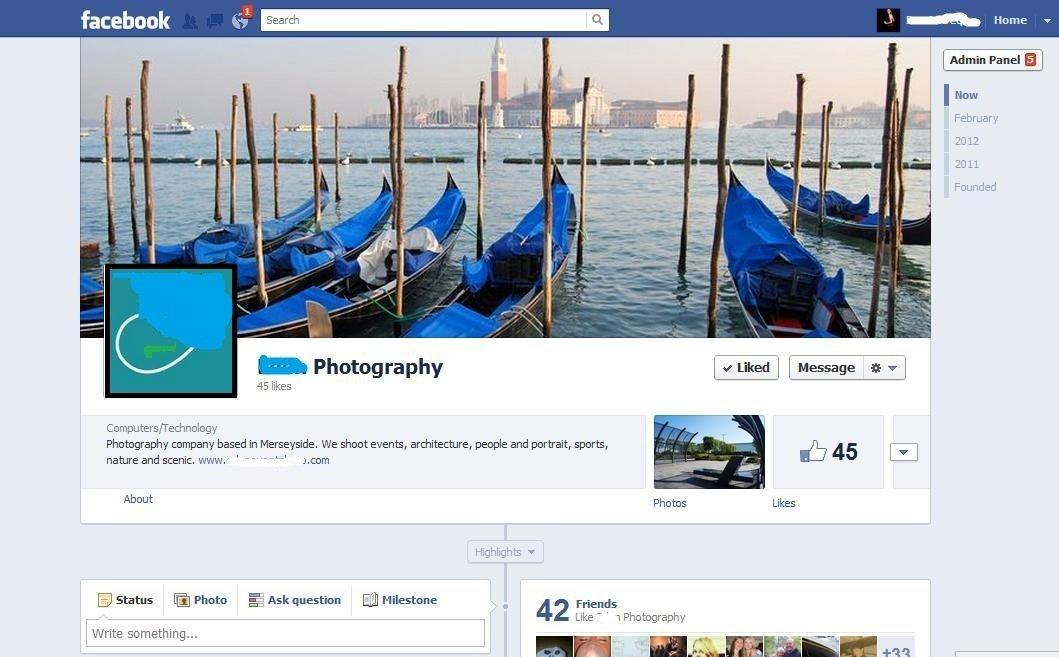 facebook company page