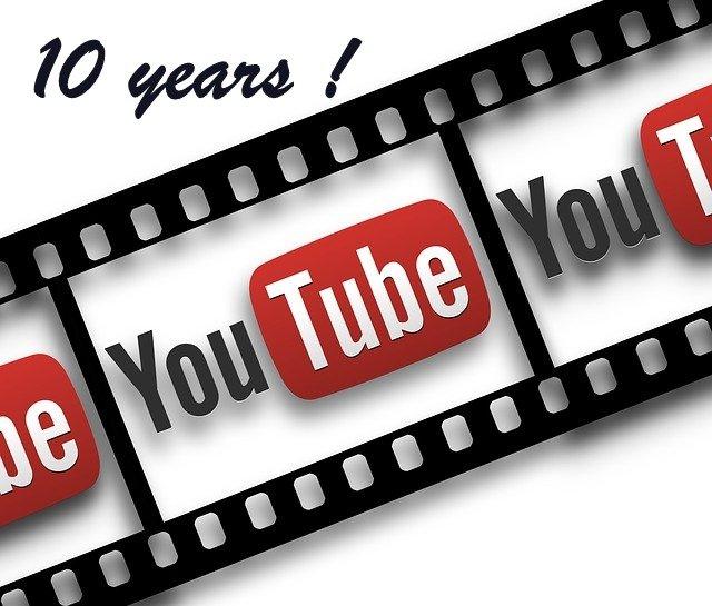 youtube celebrates 10 years