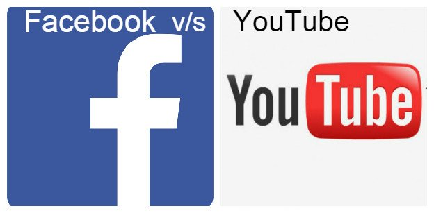 facebook and YouTube