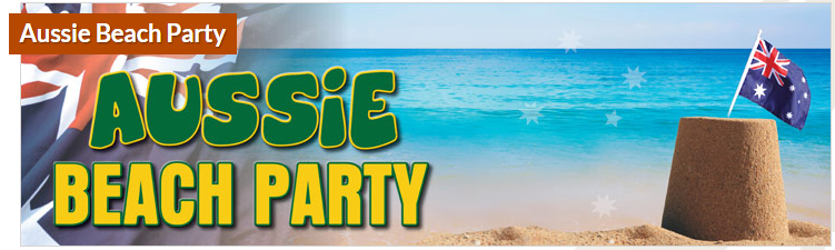 Australia day beach party bribie island